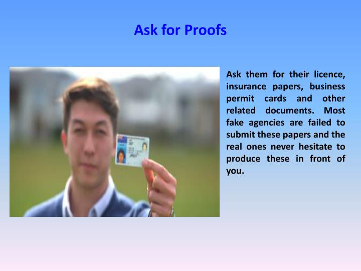 Ask for Proofs