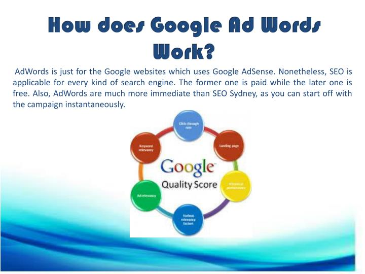 How does Google Ad Words Work?