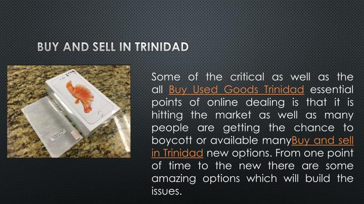 Buy and sell in Trinidad
