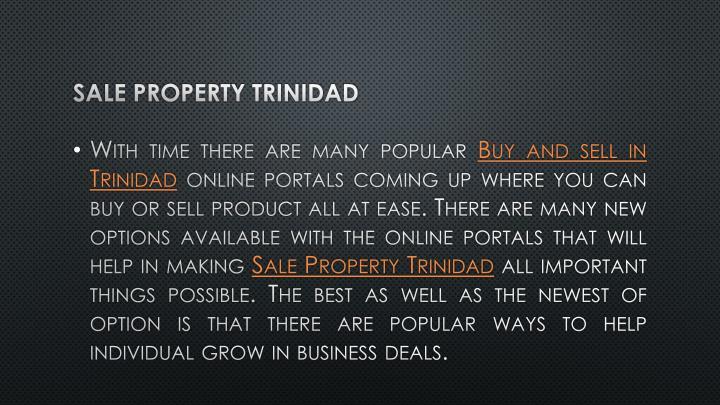 Sale Property Trinidad