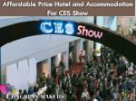 affordable price hotel and accommodation for ces show