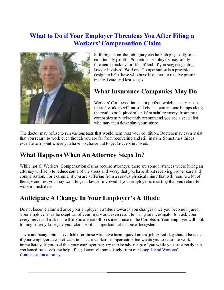 What to Do if Your Employer Threatens You After Filing a
