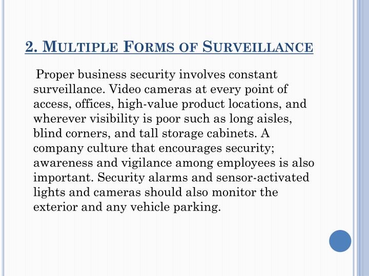 2. Multiple Forms of Surveillance