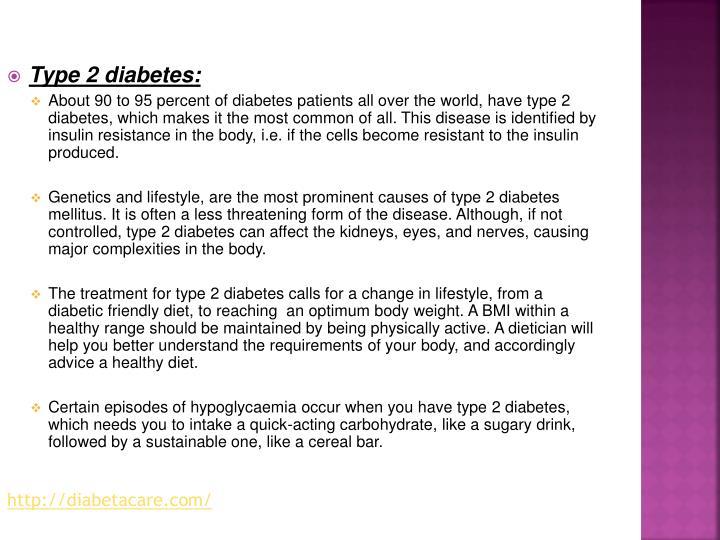 Type 2 diabetes: