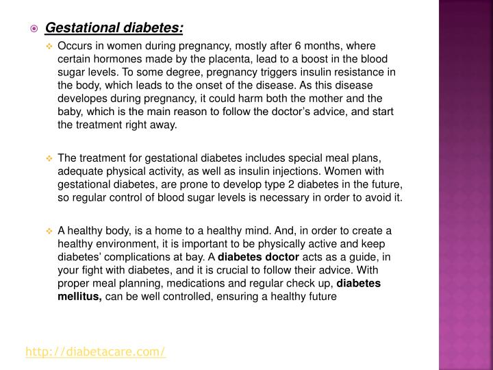Gestational diabetes:
