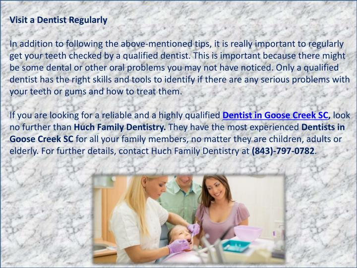 Visit a Dentist Regularly