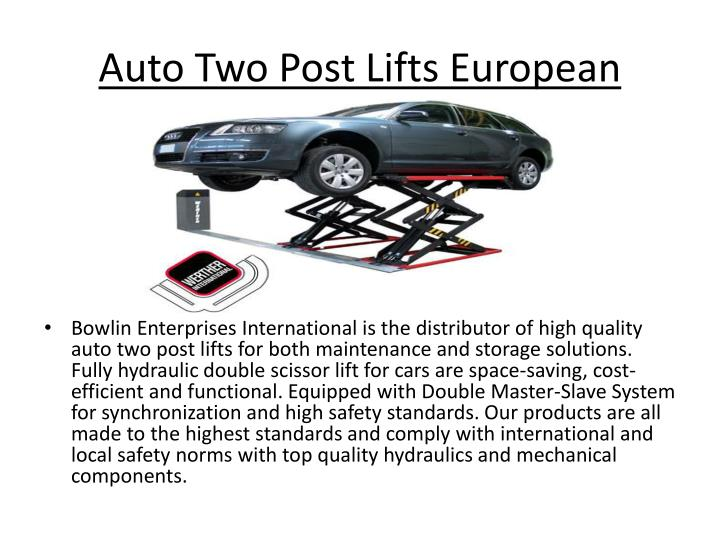 Auto two post lifts european