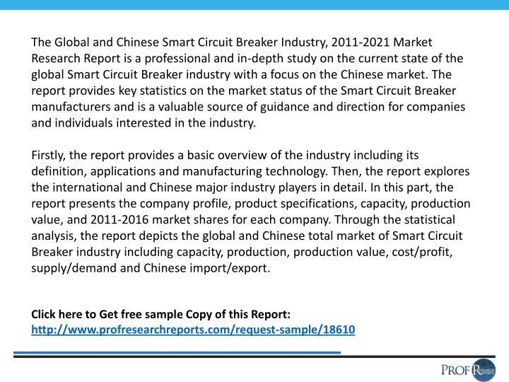 The Global and Chinese Smart Circuit Breaker Industry, 2011-2021 Market