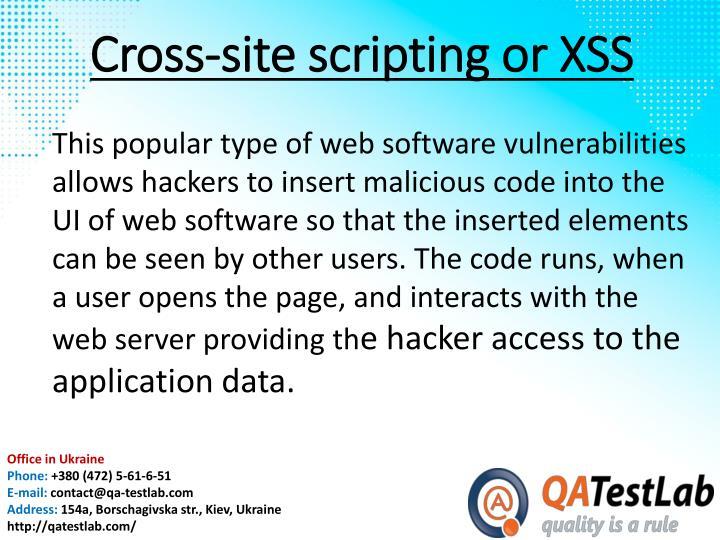 Cross-site scripting or
