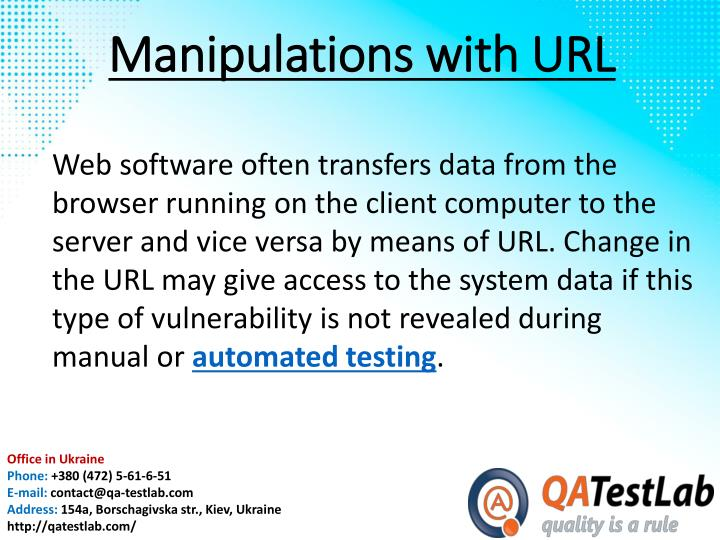 Manipulations with URL