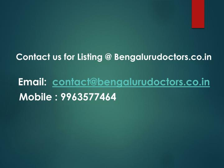 Contact us for Listing @
