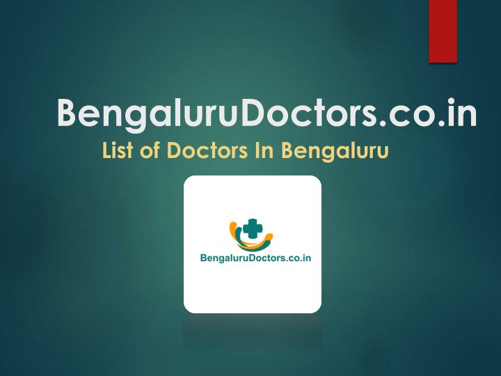 bengaluru doctors co in