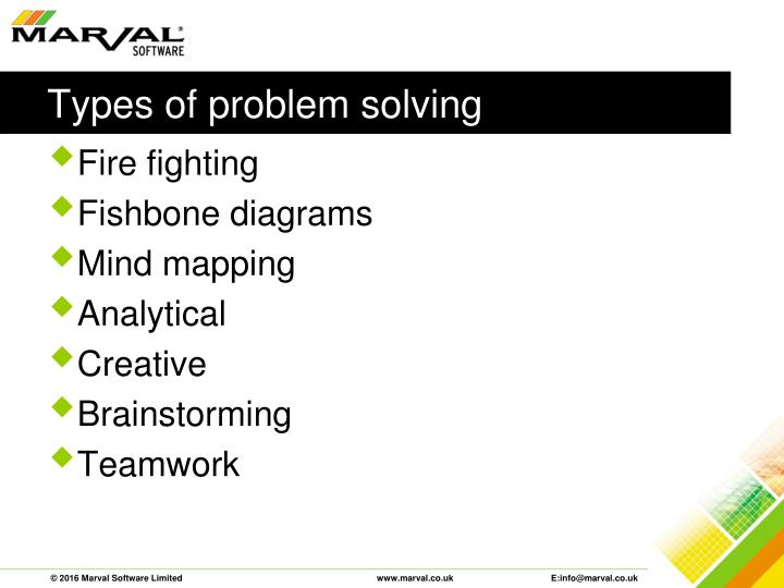 Types of problem solving