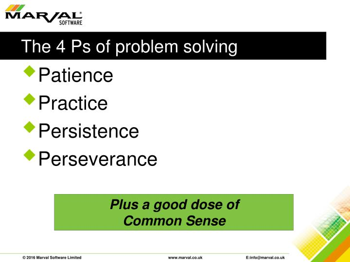 The 4 Ps of problem solving