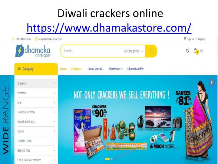 Diwali crackers online
