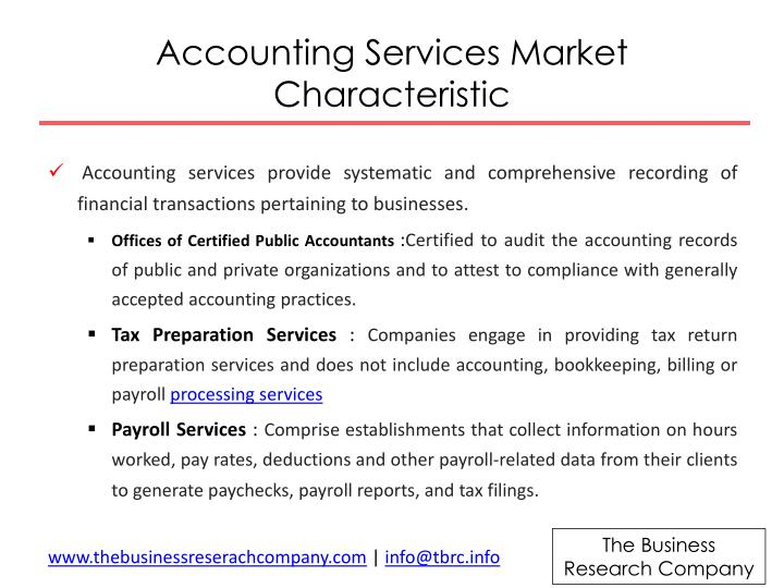 Accounting Services Market Characteristic