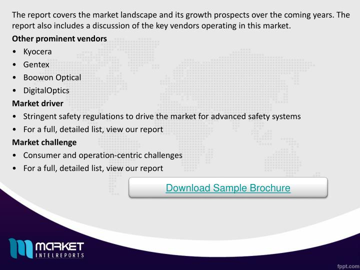 The report covers the market landscape and its growth prospects over the coming years. The report also includes a discussion of the key vendors operating in this market.