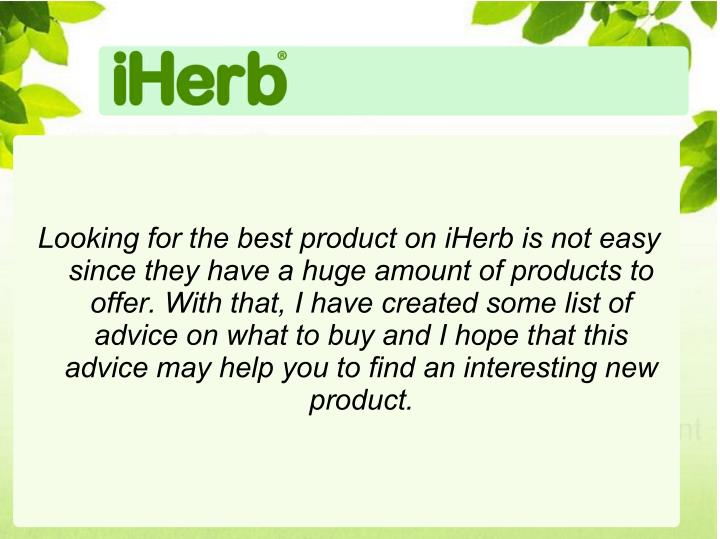 Looking for the best product on iHerb is not easy