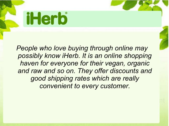 People who love buying through online may