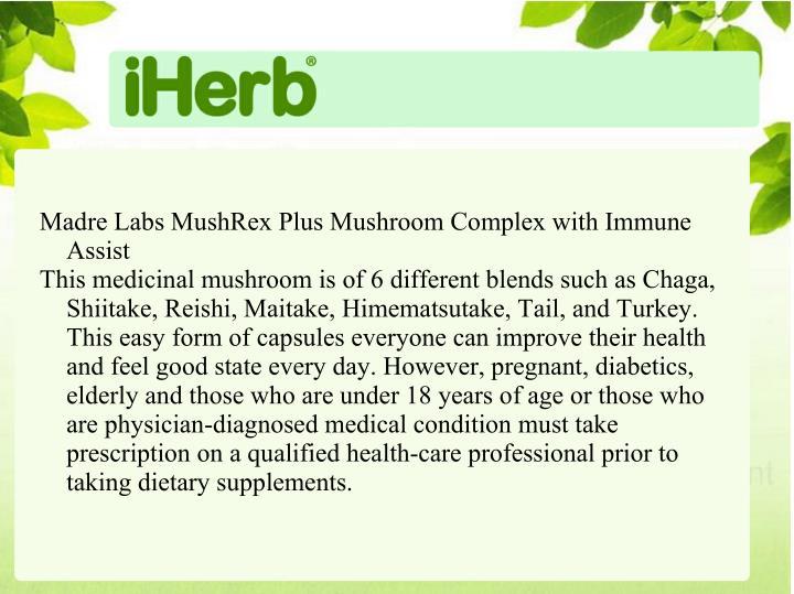 Madre Labs MushRex Plus Mushroom Complex with Immune