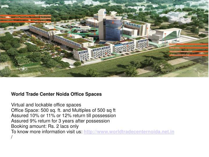 World Trade Center Noida Office Spaces