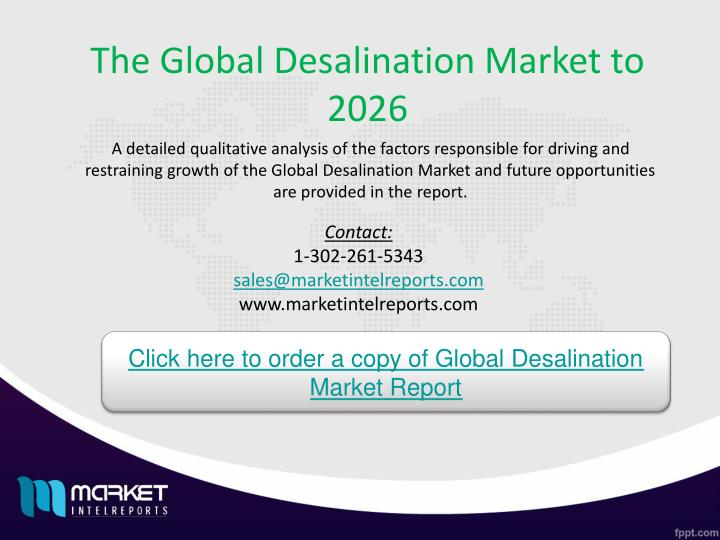 The Global Desalination Market to 2026