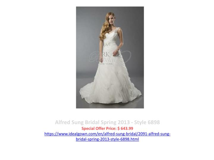 Alfred Sung Bridal Spring 2013 - Style 6898