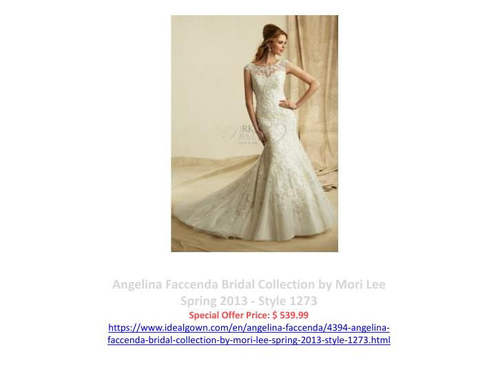 Angelina Faccenda Bridal Collection by Mori Lee Spring 2013 - Style 1273