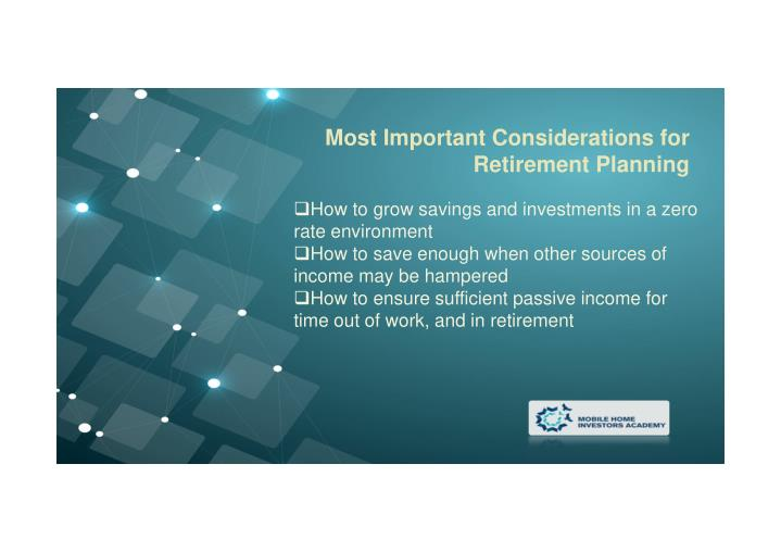 Most Important Considerations for