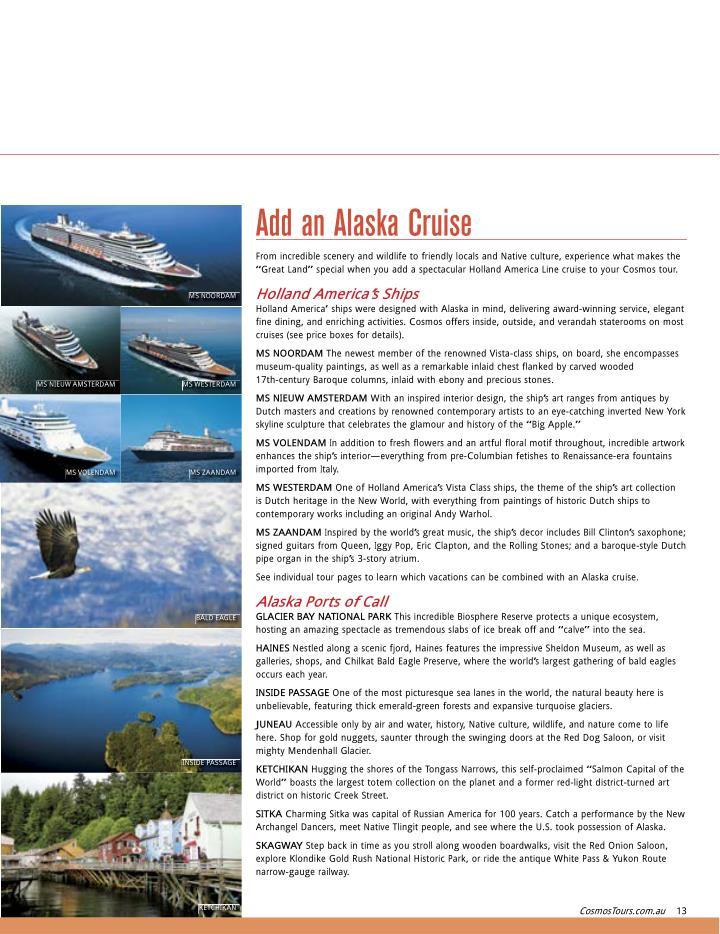 Add an Alaska Cruise