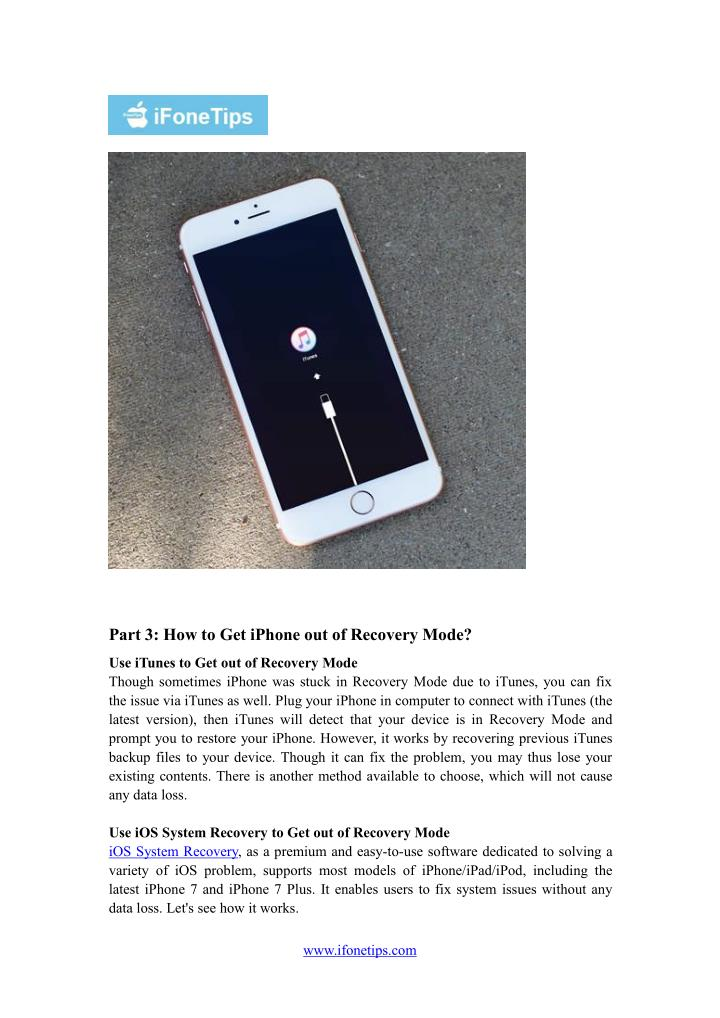 Part 3: How to Get iPhone out of Recovery Mode?