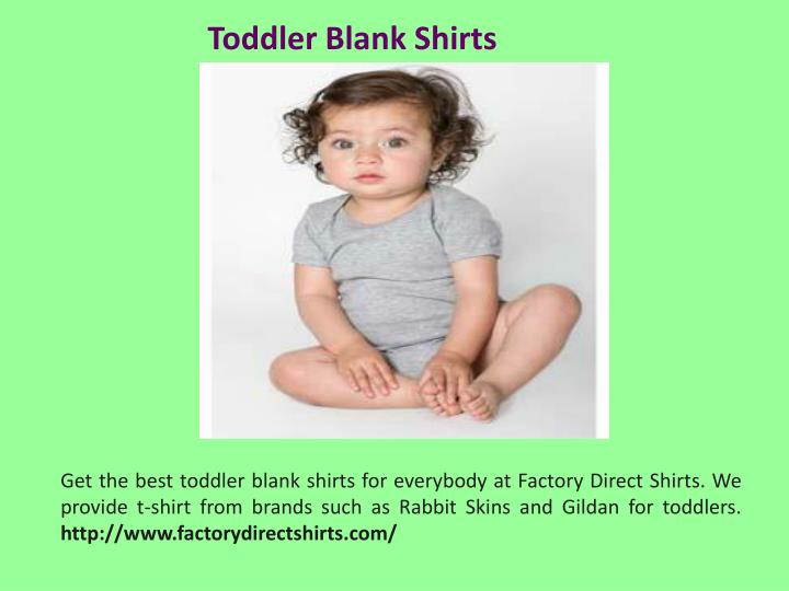 Toddler Blank Shirts