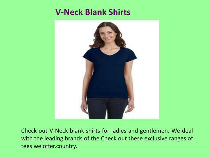 V-Neck Blank Shirts
