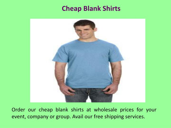 Cheap Blank Shirts
