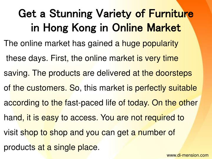 Get a Stunning Variety of Furniture