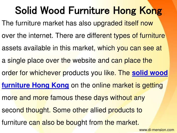 Solid Wood Furniture Hong Kong