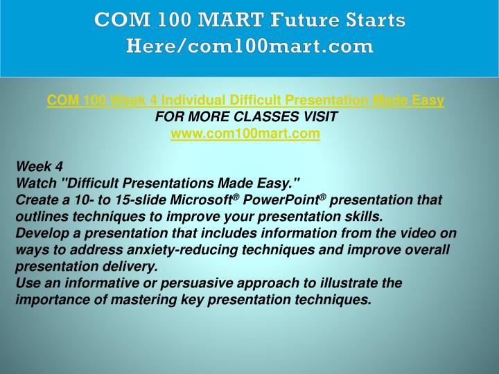 COM 100 MART Future Starts Here/com100mart.com
