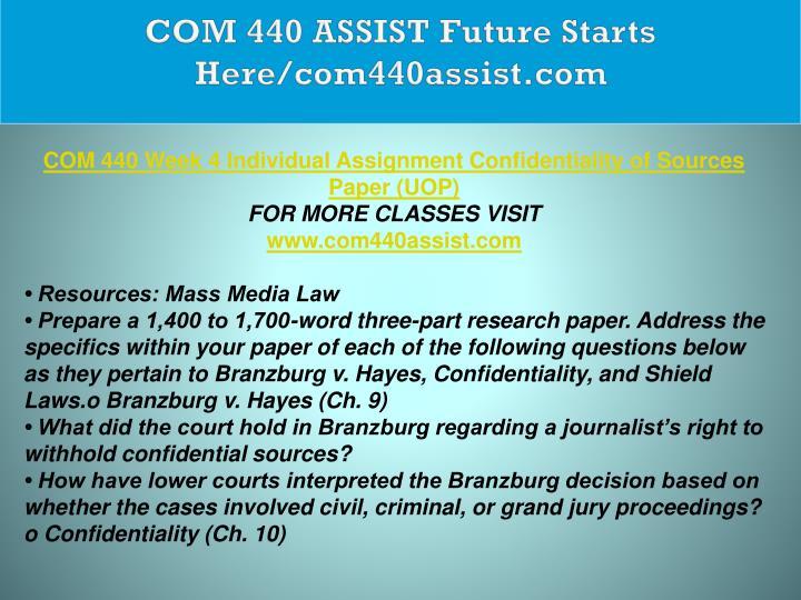 COM 440 ASSIST Future Starts Here/com440assist.com