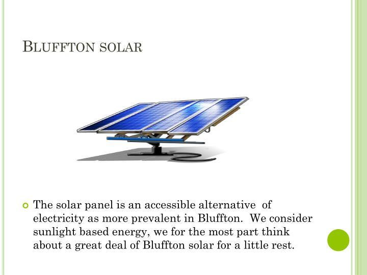 Bluffton solar