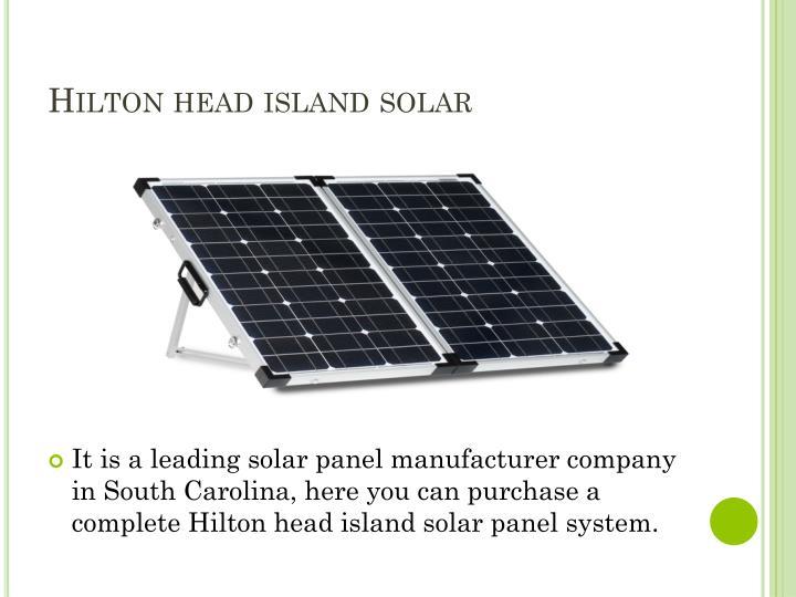 Hilton head island solar