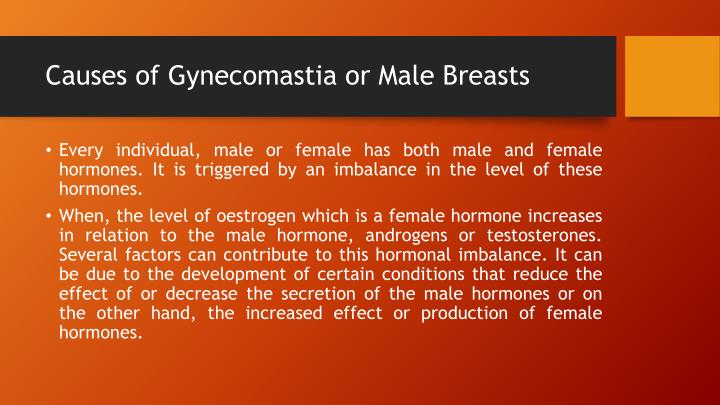 Causes of Gynecomastia or Male Breasts
