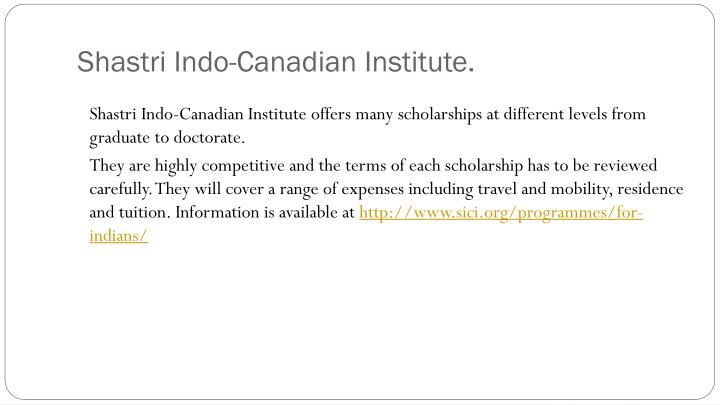 Shastri Indo-Canadian Institute.