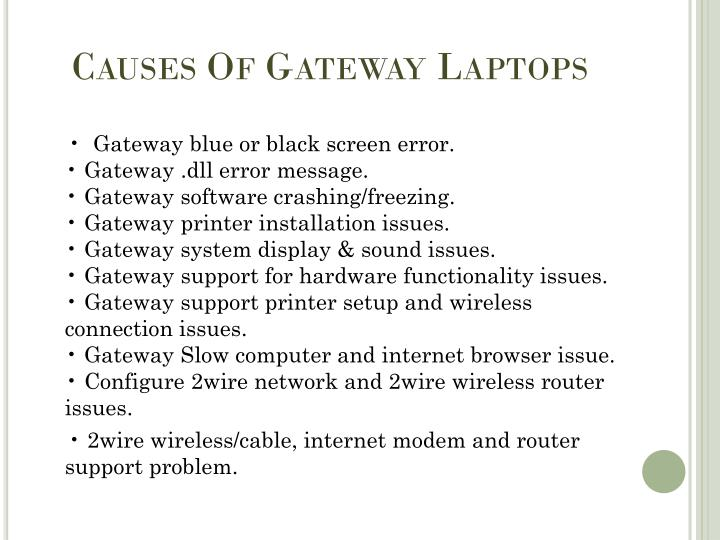 Causes Of Gateway Laptops