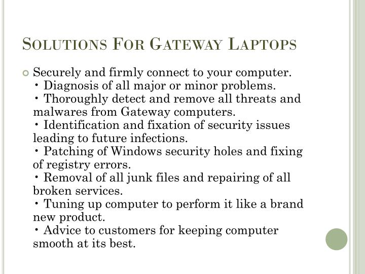 Solutions For Gateway Laptops