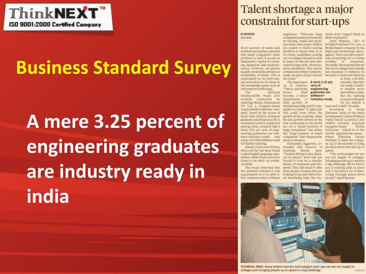 Business Standard Survey