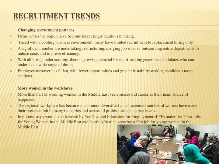 Changing recruitment patterns