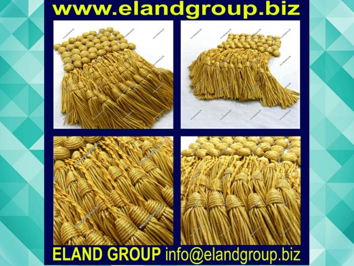 Military gold bullion key tassels 7423513
