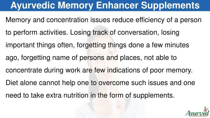 Ayurvedic Memory Enhancer Supplements