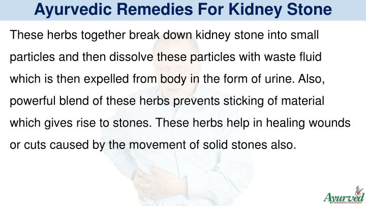 Ayurvedic Remedies For Kidney Stone