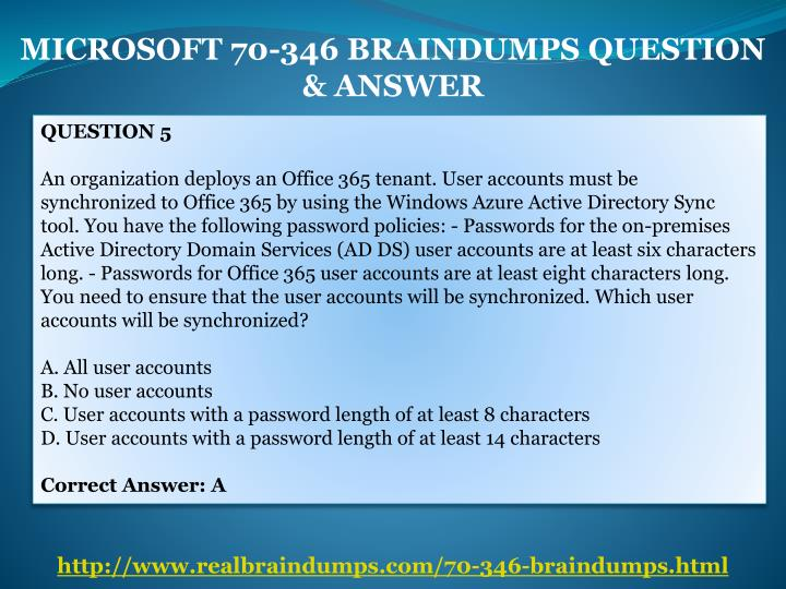 MICROSOFT 70-346 BRAINDUMPS QUESTION